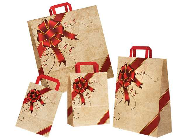 BUSTA RIBBON ROSSO 18+8X24